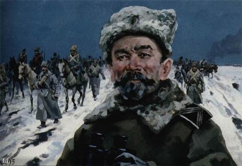 ЛАВР КОРНИЛОВ. «ЛЕДЯНОЙ ПОХОД» (фрагмент) худ. А.Николаев