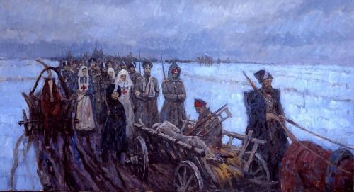 ЛЕДЯНОЙ ПОХОД худ. Д.А.Шмарин