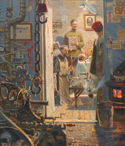 ПАСХА В ПАРИЖЕ (№3 из Триптиха «Русский век») худ. П.В. Рыженко
