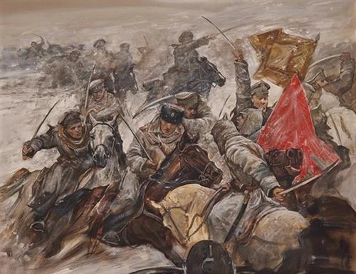 КАИНЫ И АВЕЛИ. БОИ НА ДОНУ. 1919 ГОДЪ худ. А.Н. Ромасюков